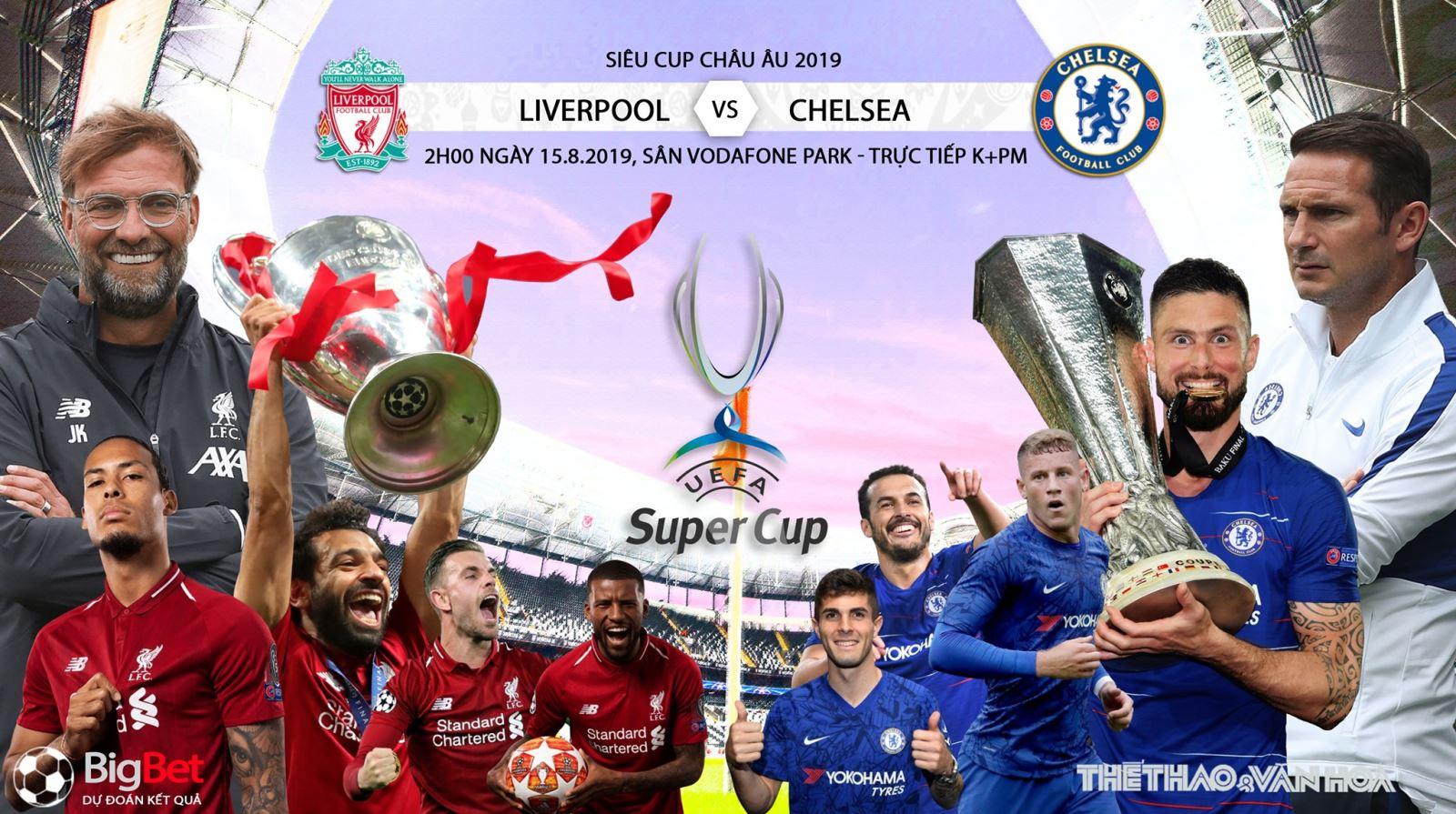 Soi kèo và trực tiếp bóng đá Liverpool đấu với Chelsea, siêu cúp châu Âu. Trực tiếp K+ PM