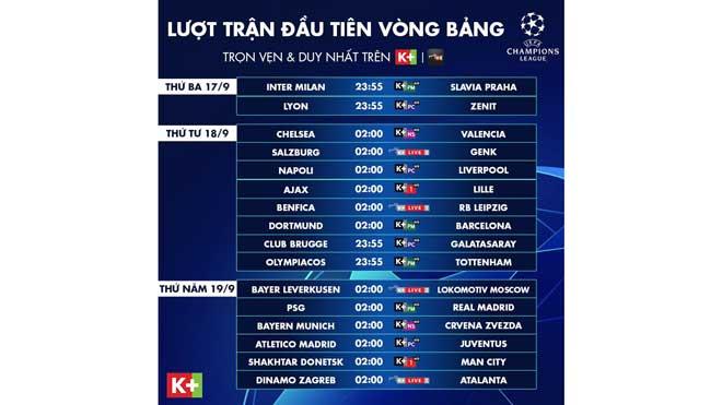 Lich thi dau cup C1, lịch thi đấu bóng đá Champions League, bong da, tin tuc bong da, lịch thi đấu cúp C1 châu Âu, trực tiếp bóng đá, K+, P+PM, Lyon vs Zenit, Lyon đấu với Zenit, Lyon, Zenit