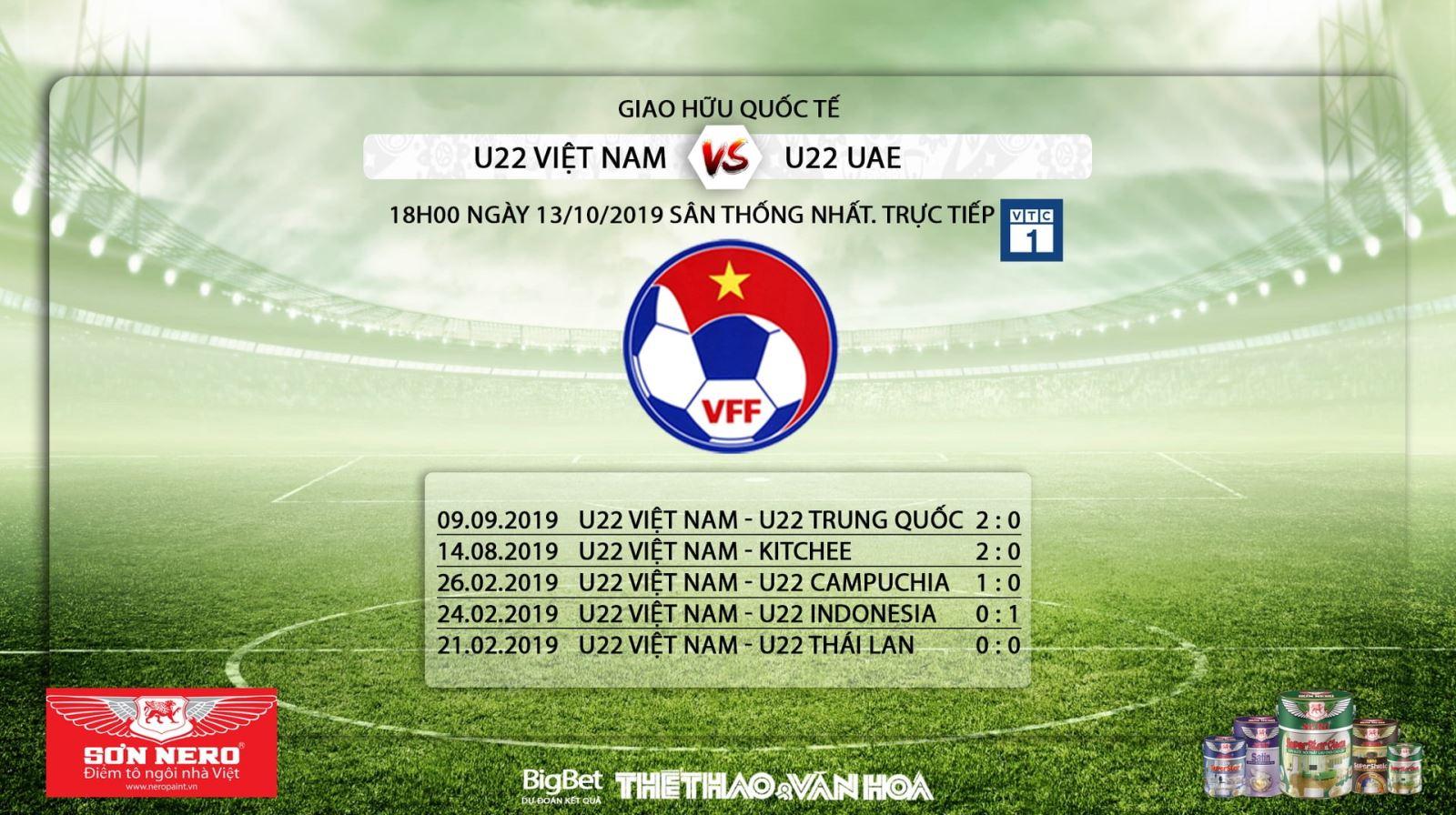 Ket qua bong da hôm nay, Kết quả bóng đá, U22 Việt Nam, U22 UAE, U22 Việt Nam vs U22 UAE, trực tiếp bóng đá, VTC1, VTC3, VTV5, VTV6