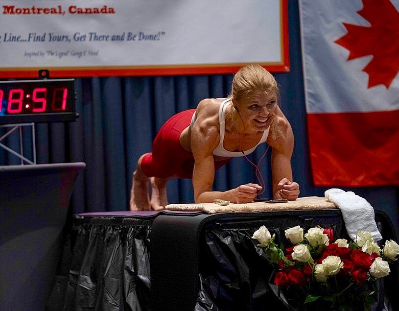 plank, yoga, Dana Glowacka, kỷ lục thế giới