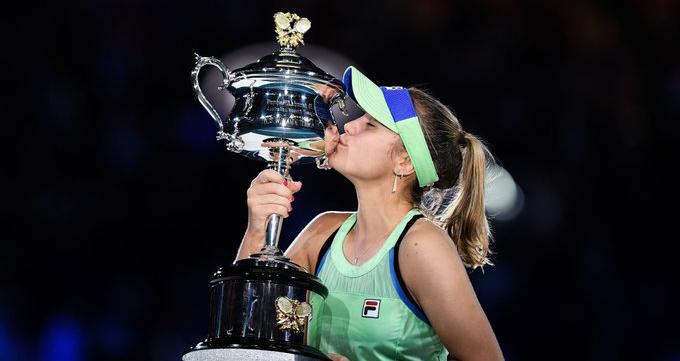Sofina Kenin, kenin, tennis, quần vợt, úc mở rộng, Australia Open 2020, giải Úc mở rộng 2020, Kenin vô địch, Garbine Muguruza