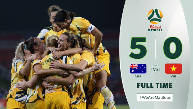 Nữ Australia 5-0 nữ Việt Nam: Tạo mưa bàn thắng, nữ Australia cầm chắc tấm vé đến Olympic