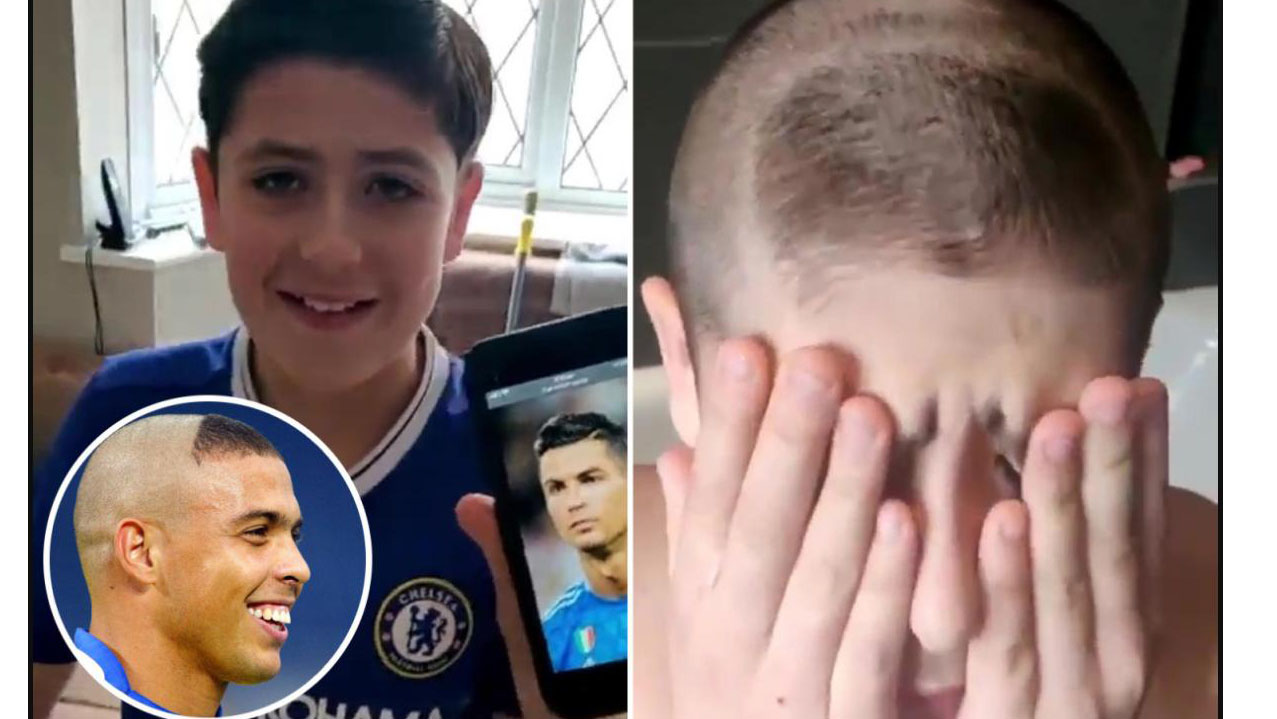 Fan nhí gặp cái kết đắng lòng khi muốn cắt tóc như Ronaldo