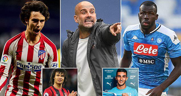 bóng đá, bóng đá Anh, Man City, Pep Guardiola, chuyển nhượng, Joao Felix, Nathan Ake, Kalidou Koulibaly