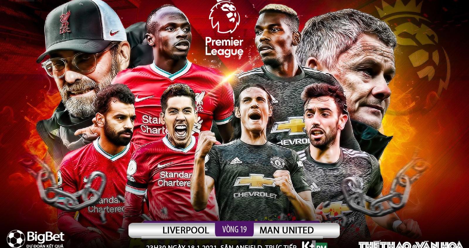 Trực tiếp Liverpool vs MU, Lịch thi đấu ngoại hạng Anh vòng 19, Liverpool, mu, manchester united, bóng đá, bong da