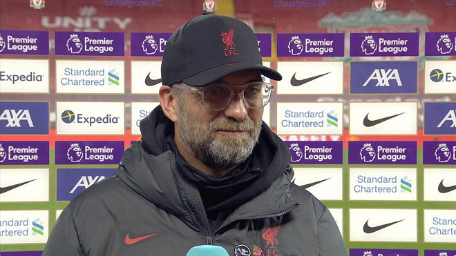 Klopp hài lòng khi Liverpool bị đánh giá hết cơ hội vào Top 4