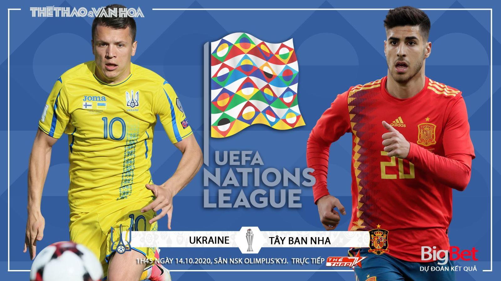 Soi kèo nhà cái. Ukraina vs Tây Ban Nha. Vòng bảng UEFA Nations League. Trực tiếp K+PM, TTTV