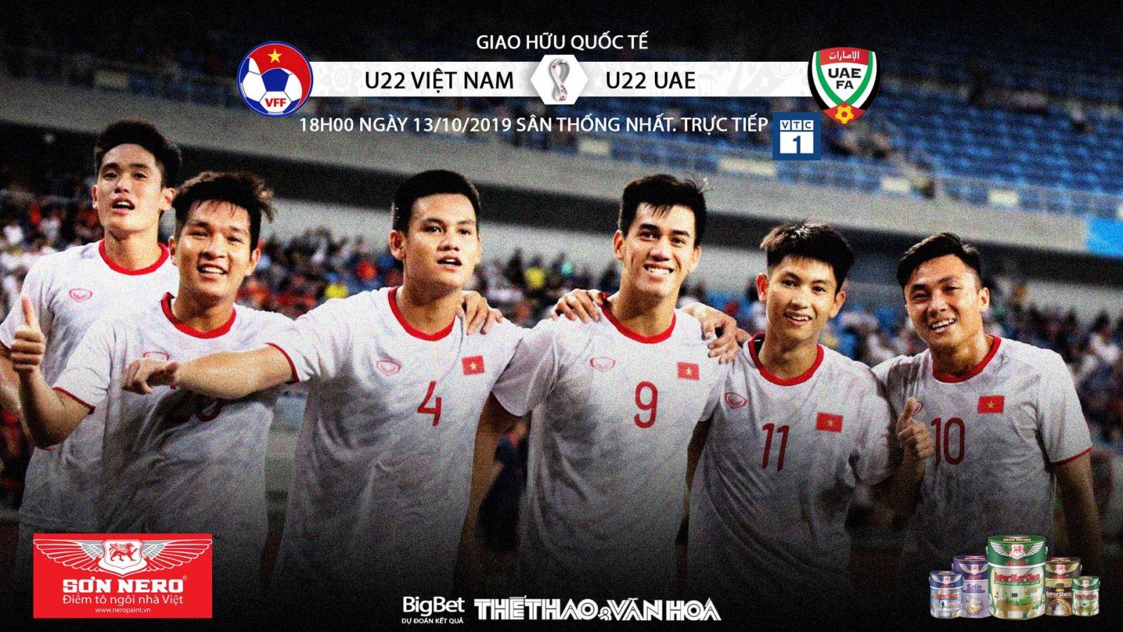 Soi kèo bóng đá U22 Việt Nam đấu với U22 UAE. Trực tiếp VTC1, VTC3