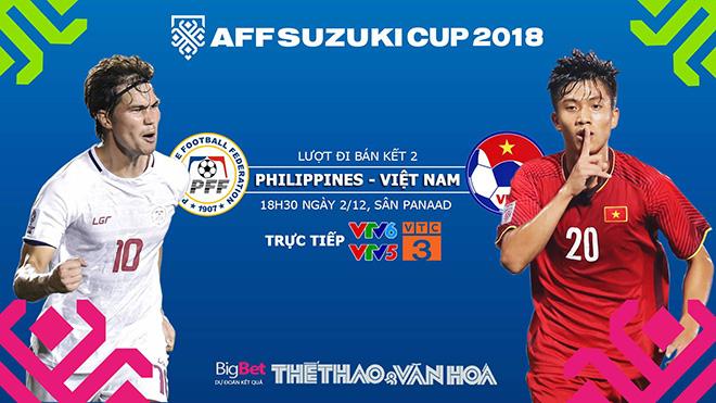 Lịch thi đấu bóng đá hôm nay. VTV6, VTC3 trực tiếp bóng đá: Philippines vs Việt Nam, AFF Cup 2018