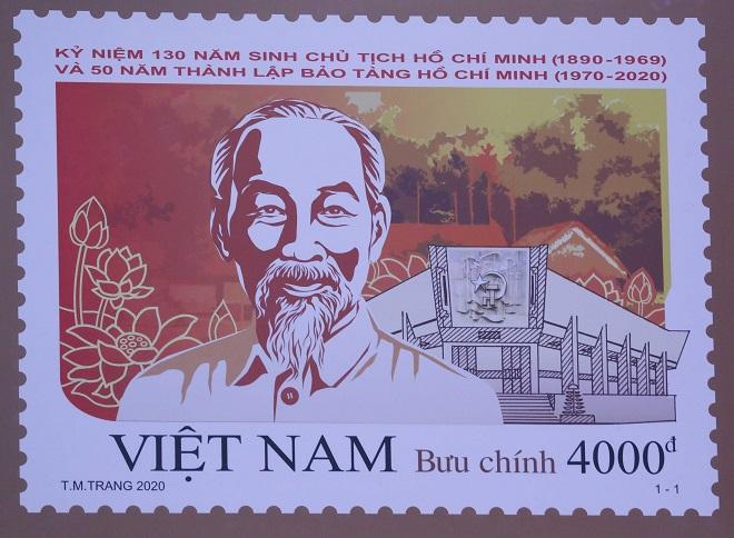 Phát hành, tem bưu chính, kỷ niệm 130 năm Ngày sinh Chủ tịch Hồ Chí Minh