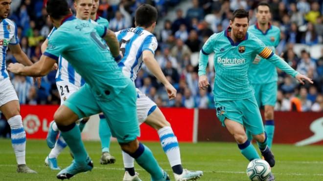 truc tiep bong da hôm nay, lich thi dau bong da, truc tiep bong da, Sociedad vs Barcelona, Sociedad Barca, xem bong da truc tuyen, K+, K+PM, BXH Tây Ban Nha, bong da