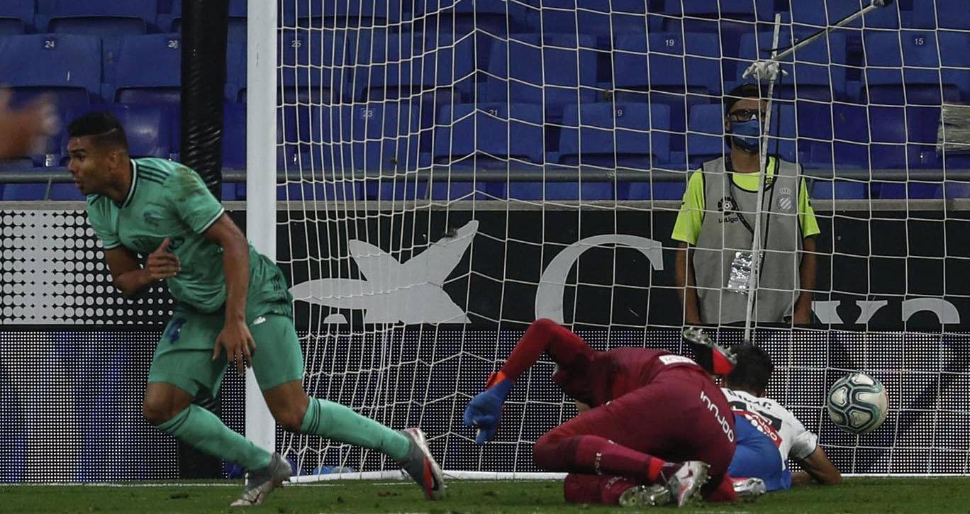 Ket qua bong da, ket qua bong da Tay Ban Nha, ket qua bong da La Liga, Espanyol 0-1 Real Madrid, kết quả vòng 32 La Liga, bảng xếp hạng bóng đá Tây Ban Nha, BXH La Liga
