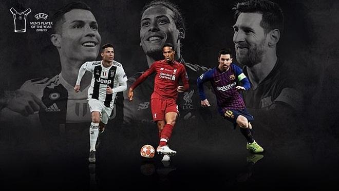 bong da, truc tiep bong da hôm nay, trực tiếp bóng đá, lịch thi đấu bóng đá hôm nay, van dijk, messi, ronaldo, cầu thủ hay nhất mùa của uefa, uefa, cầu thủ hay nhất