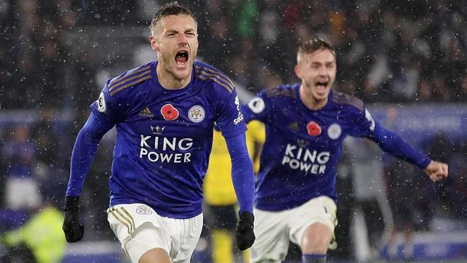 Ket qua bong da, kết quả bóng đá, kết quả bóng đá hôm nay, Leicester Arsenal, Leicester 2-0 Arsenal, Ngoại hạng Anh, BXH Ngoại hạng Anh, Unai Emery, bị sa thải, bong da, Vardy