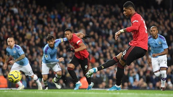 Ket qua bong da, kết quả bóng đá hôm nay, Man City vs MU, video Man City 1-2 MU, kết quả bóng đá Anh, Ngoại hạng Anh, derby Manchester, bxh bóng đá Anh, Martial, Rashford