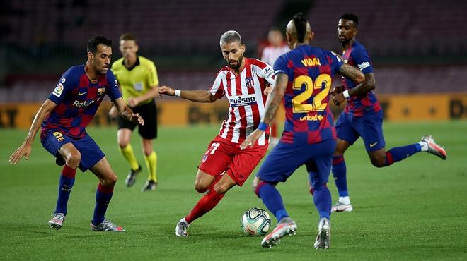 ket qua bong da, kết quả bóng đá Tây Ban Nha La Liga, Barcelona 2-2 Atletico, Barcelona, Atletico, Messi, bảng xếp hạng bóng đá Tây Ban Nha, BXH Liga, bong da hom nay