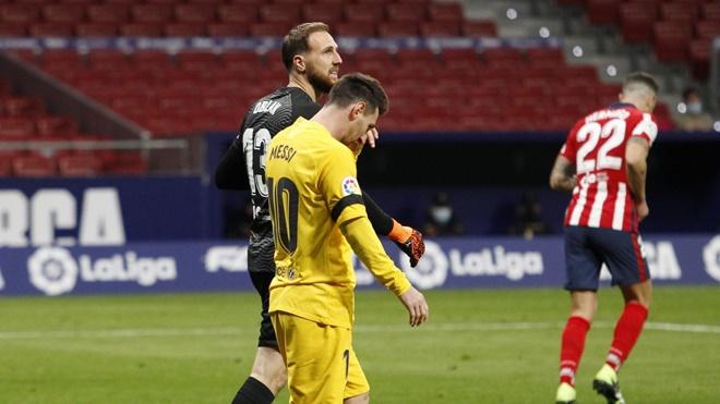 Atletico vs Barcelona. Barcelona phụ thuộc vào Messi. BXH Liga. kết quả Atletico vs Barcelona, Barcelona sa sút, Barcelona khủng hoảng, Barcelona, Messi
