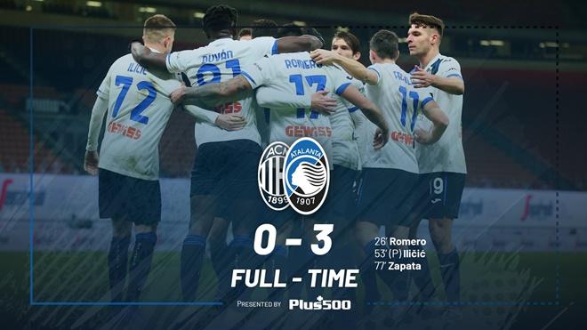 Ket qua bong da. Milan vs Atalanta. Kết quả Serie A. Bảng xếp hạng Serie A. Kqbd, kết quả Milan vs Atalanta, video Milan vs Atalanta, BXH Serie A, Milan thảm bại, Serie A
