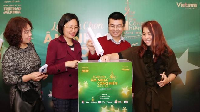Thông cáo báo chí Phóng viên 2 miền Nam - Bắc tham gia bầu chọn Giải thưởng Âm nhạc Cống hiến lần 13-2018