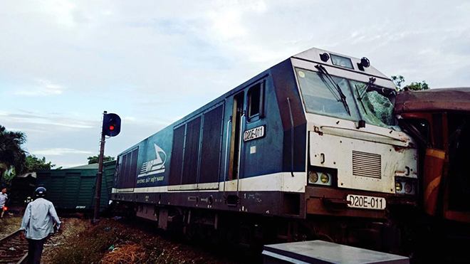 Thông tin chính thức về vụ tai nạn đường sắt hai tàu hoả đấu đầu tại Quảng Nam