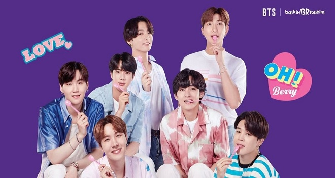 BTS, Suga, RM, J-Hope, Jungkook, BTS Baskin Robbins, BTS 2020, BTS gif, mint chocolate, BTS thích kem gì, RM ghét kem socola bạc hà, RM và Suga