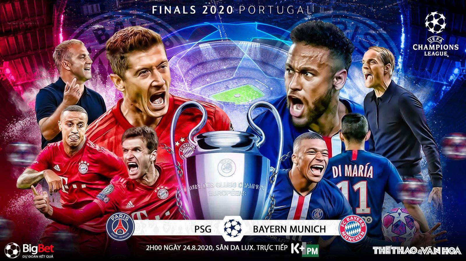 TRỰC TIẾP BÓNG ĐÁ: PSG vs Bayern Munich. Chung kết Cúp C1. K+, K+PM trực tiếp