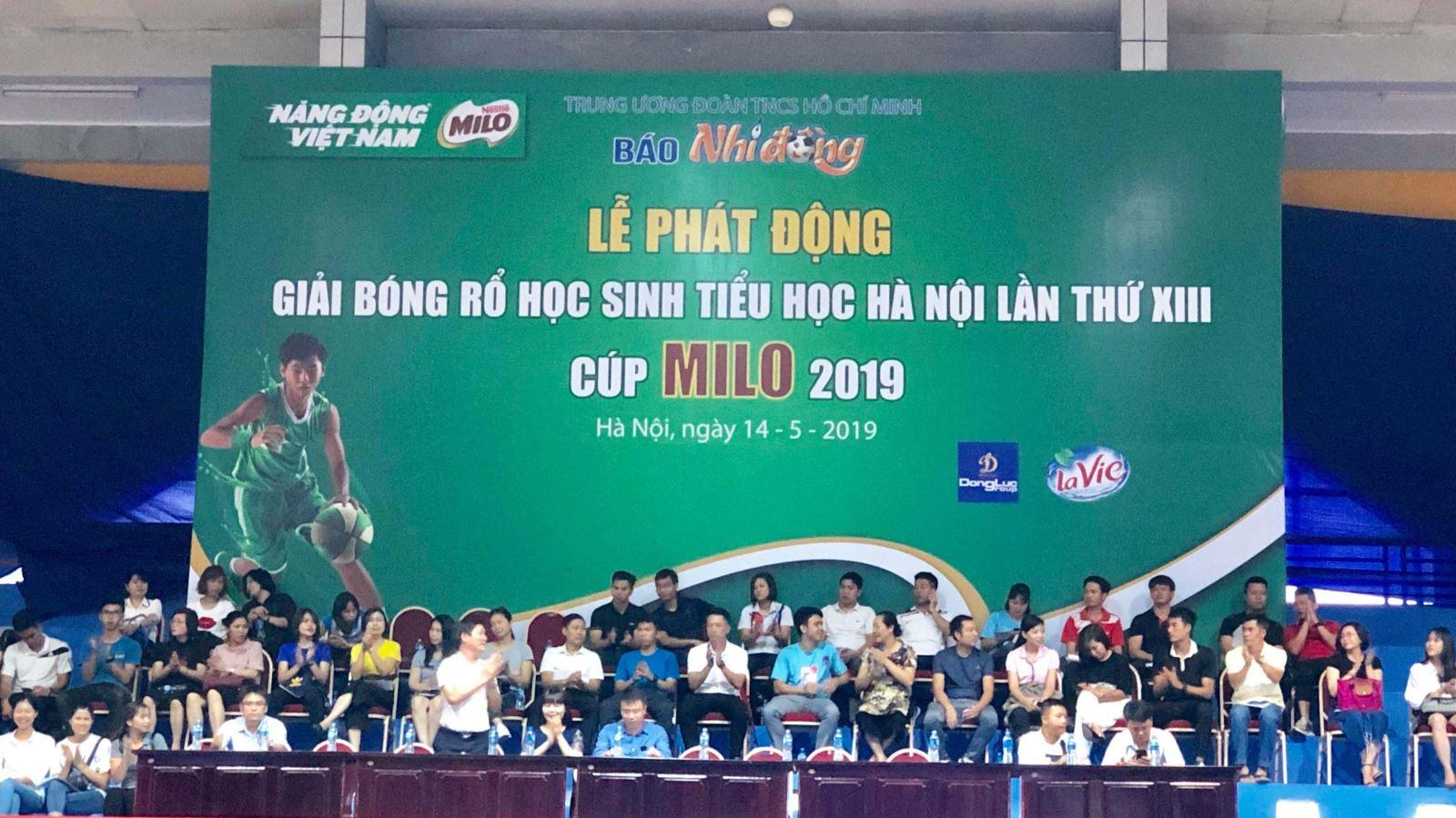 Phát động Giải Bóng rổ Học sinh tiểu học Hà Nội 2019