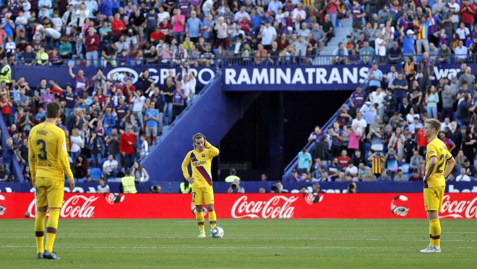Ket qua bong da, kết quả bóng đá hôm nay, Levante 3-1 Barcelona, kết quả bóng đá tây Ban Nha, bảng xếp hạng bóng đá TBN, La Liga, Real Madrid vs Real Betis, Barca, Messi
