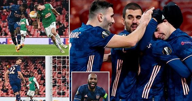 Video clip bàn thắng trận Arsenal 4-1 Rapid Wien