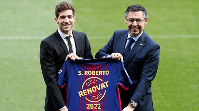 Sợ bị Man City 'cướp', Barca trói Sergi Roberto bằng hợp đồng siêu khủng