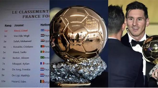 bóng đá, quả bóng vàng 2019, bóng vàng 2019, Ballon d'Or, trao giải quả bóng vàng, Messi, Ronaldo, Van Dijk, Messi giành bóng vàng, gala bóng vàng, France Football