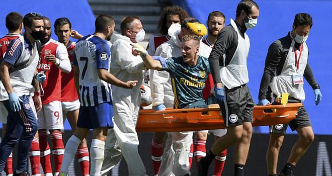 Ket qua bong da, Bóng đá Anh, Brighton vs Arsenal, Vì sao Arsenal thua Brighton, kết quả bóng đá Anh, kết quả Ngoại hạng Anh, Arsenal khủng hoảng, Bernd Leno chấn thương
