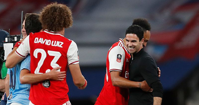 Arsenal 2-0 Man City, Arteta, Arsenal đã đánh bại hai đội bóng mạnh nhất châu Âu, Ket qua bong da, Kết quả cúp FA, Arsenal vs Man City, Arsenal vs Liverpool, Arteta. Pep