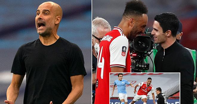 Arsenal vs Man City, Pep Guardiola không tôn trọng Arsenal bên ngoài sân cỏ, Arsenal, Man City, Pep Guardiola, Guardiola, Arsenal 2-0 Man City, bán kết cúp FA, Arteta