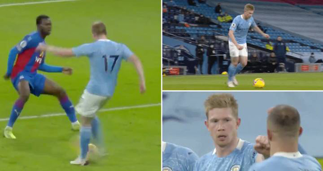 Man City vs Crystal Palace, Video Man City vs Crystal Palace, De Bruyne kiến tạo, kết quả Ngoại hạng Anh, De Bruyne, Kevin de Bruyne, BXH Ngoại hạng Anh, Man City