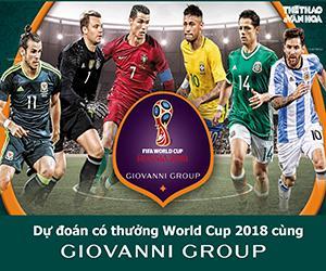 Dự đoán có thưởng World Cup 2018 cùng GIOVANNI