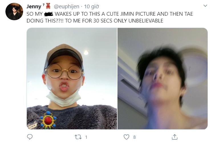 Chết cười khi Jimin BTS chụp ảnh với filter, BTS, BTS chụp ảnh với filter, BTS ảnh mới, BTS ảnh đẹp, BTS ảnh hài hước, BTS V, BTS Jimin, BTS RM, BTS Jungkook