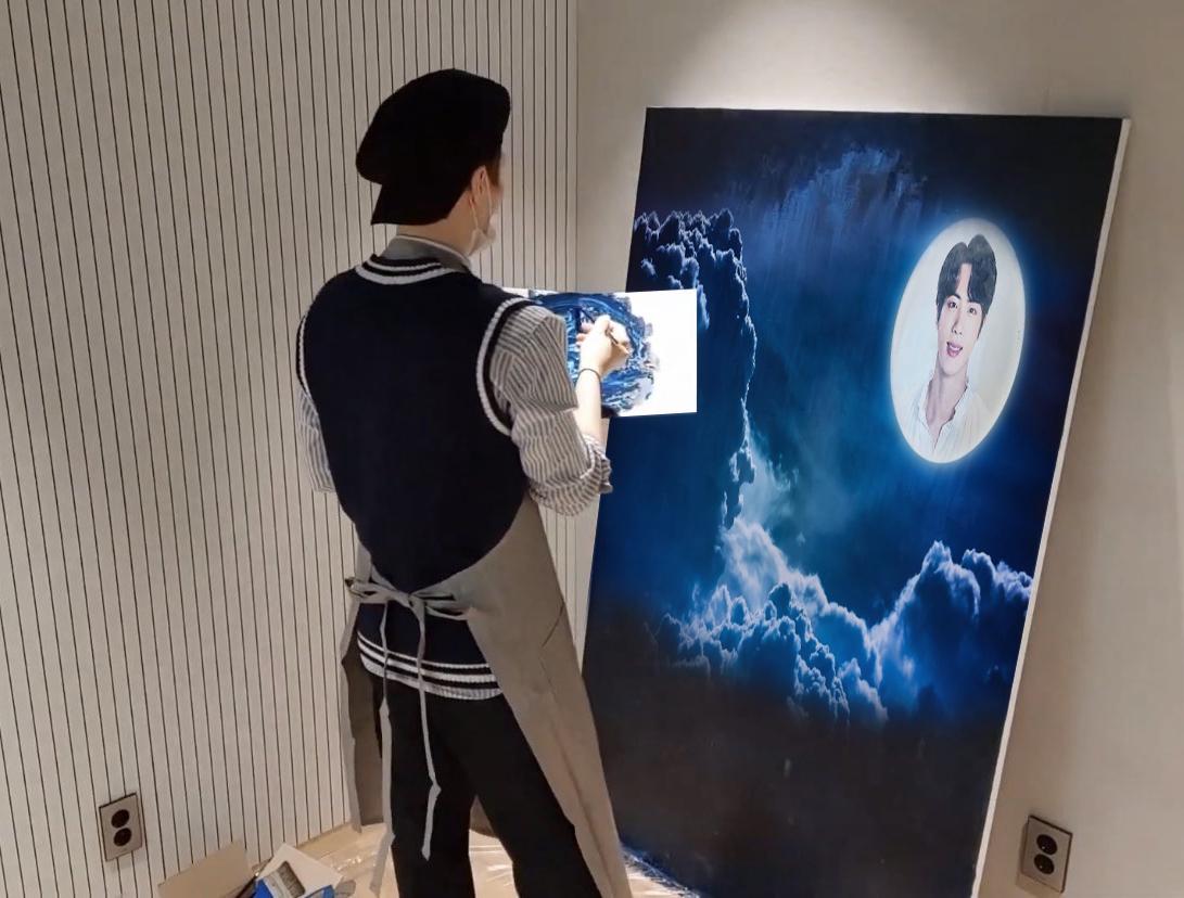 Suga BTS, Suga BTS vẽ tranh, ARMY biến ngay thành meme, bts, Suga làm gì cũng chuẩn không cần chỉnh, Suga truyền cảm hứng để vẽ tranh