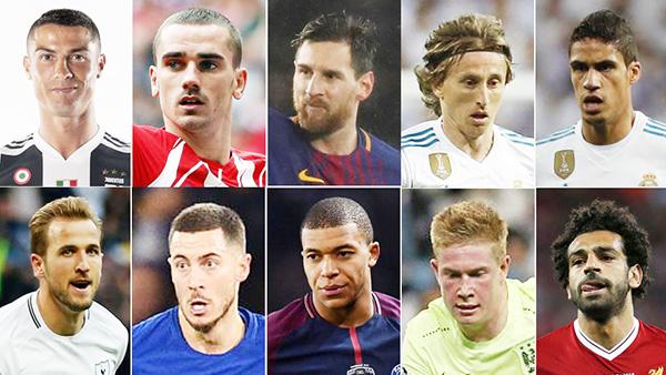 The Best, FIFA, Neymar, Pogba, Rakitic, Kante