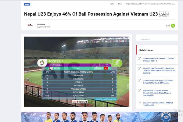 U23 Việt Nam, U23 Nepal, ASIAD