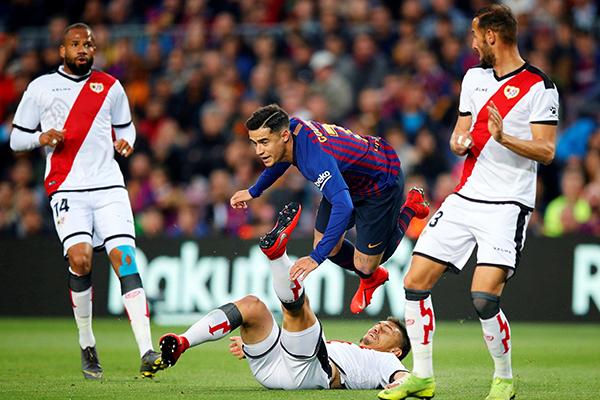 Coutinho muốn đến MU, Coutinho đến M.U, chuyển nhượng M.U, chuyển nhượng MU, tương lai Coutinho, Coutinho rời Barca, video Barcelona vs Vallecano, Barca vs Vallecano