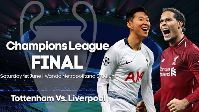 Lịch thi đấu chung kết cúp C1: Tottenham đấu với Liverpool. Xem trực tiếp bóng đá