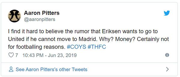 MU, chuyển nhượng MU, Eriksen muốn tới MU, MU chiêu mộ Eriksen, Man United chuyển nhượng Man United, Real, chuyển nhượng Real, Cúp C1, Cúp C2, Ole, Tottenham, Pochetino