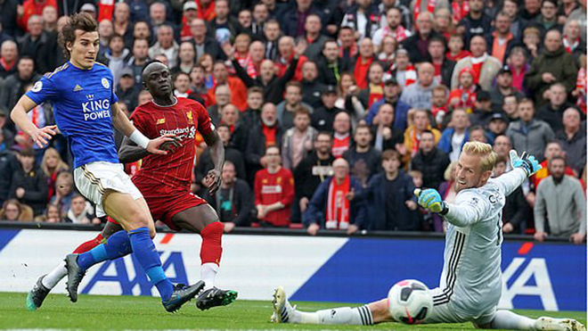 Bong da, ket qua bong da, kết quả bóng đá, tỷ số, Liverpool vs Leicester, Liverpool 2-1 Leicester, BXH Ngoại hạng Anh, Liverpool, Sadio Mane, Mane, Milner, phạt đền