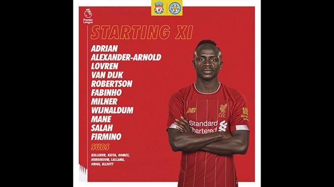 bóng đá, Liverpool vs Leicester, truc tiep bong da hôm nay, Liverpool đấu với Leicester, trực tiếp bóng đá, K+, K+PM, xem bóng đá trực tuyến, Ngoại hạng Anh, Liverpool, đội hình xuất phát