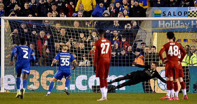 ket qua bong da, Shrewsbury vs Liverpool, video Shrewsbury 2-2 Liverpool, kqbd, kết quả Shrewsbury vs Liverpool, kết quả bóng đá, kết quả vòng 4 cúp FA, Liverpool, cúp FA, Cummings