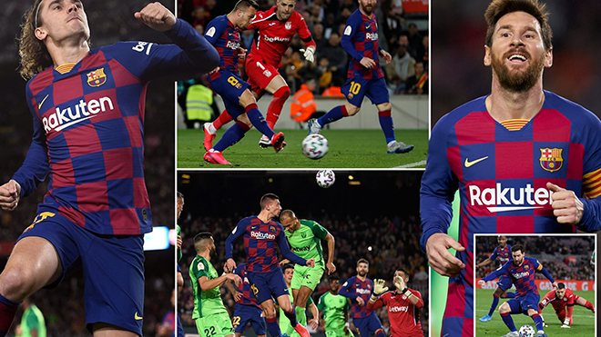 Kết quả bóng đá ngày 30/1, rạng sáng 31/1. Barcelona thắng 5 sao, Sevilla thua sốc