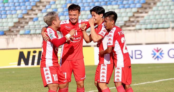 Ket qua bong da, Yangon United vs TPHCM, Công Phượng ghi bàn, AFC Cup 2020, Công Phượng, Công Phượng hồi sinh, Công Phượng tỏa sáng, video Yangon United 2-2 TPHCM, kqbd, Công Phượng ăn mừng