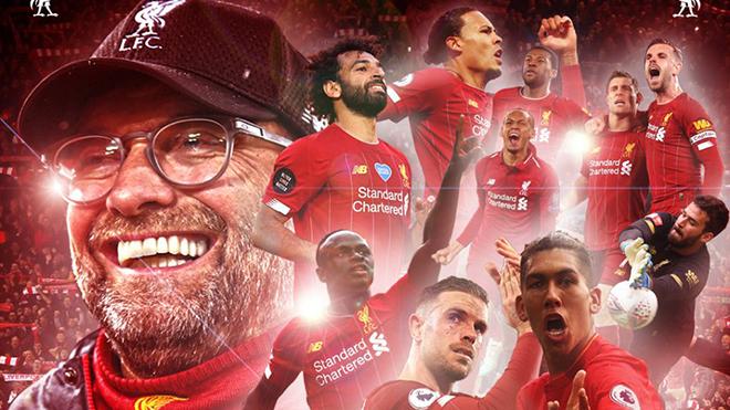 Liverpool CHÍNH THỨC vô địch Ngoại hạng Anh 2019-20 sớm 7 vòng đấu