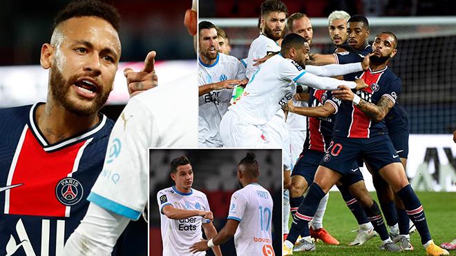 PSG 0-1 Marseille: Neymar đánh nguội, bị đuổi khỏi sân trong trận cầu 5 thẻ đỏ